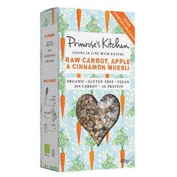 6 x Raw Carrot, Apple & Cinnamon Muesli by Primrose's Kitchen 300g - Organic, Vegan, Gluten-free Muesli
