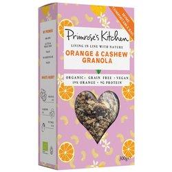 6 x Orange & Cashew Granola by Primrose's Kitchen 300g - Organic, Vegan, Gluten-free Granola