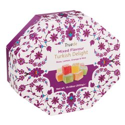 Mixed Flavour Truede Turkish Delight 300g - Rose, Lemon, Orange & Mint Varieties
