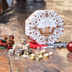 Coconut, Hazelnut & Pistachio Turkish Delight Selection 300g
