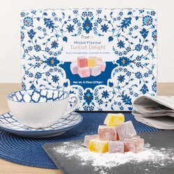 Mixed Flavour Turkish Delight by Truede 275g - Rose, Pomegranate, Lavender & Lemon Varieties