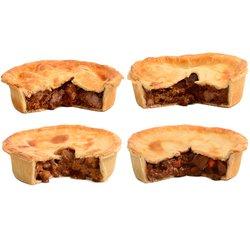 Brockleby's Pies 'Meaty Feast' Frozen Meat Pies Box - 4 Large Frozen Pies (600g Per Pie, Serves 3-4)