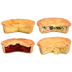 Brockleby's Pies 'Pescatarian Pie Box' Frozen Pies Selection - 4 Large Frozen Pies (600g Per Pie, Serves 3-4)
