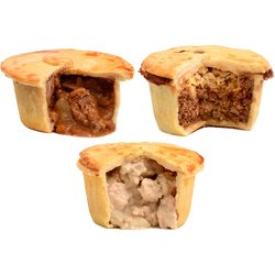 Brockleby's Pies Gluten Free Pie Selection - 5 Small Frozen Pies (300g Per Pie, Serves 1-2)