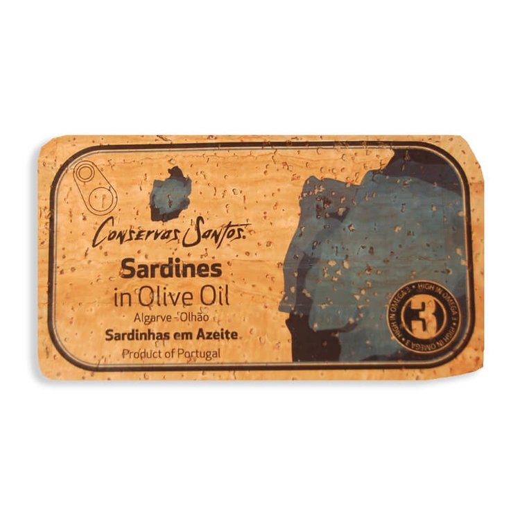 Sardines in Olive Oil Cork Label 120g