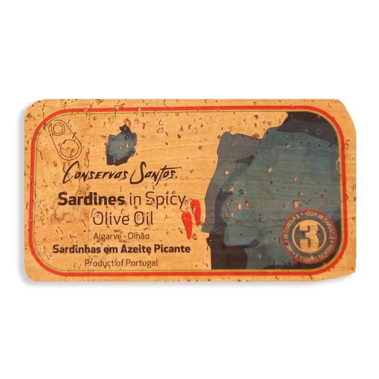 Sardines in Spicy Olive Oil Cork Label 120g