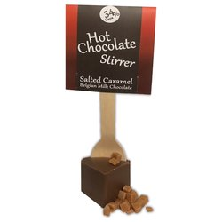 10 x Salted Caramel Hot Chocolate Stirrers 40g - Hot Chocolate Spoons by Pendragon Drinks
