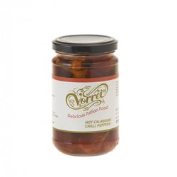 Whole Calabrian Chilli Peppers in Oil 290g