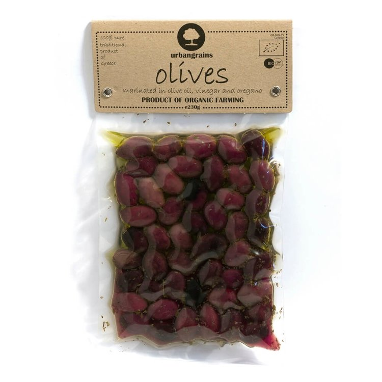 Organic Black Kalamon Olives 230g