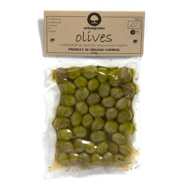 Organic Green Olives 230g