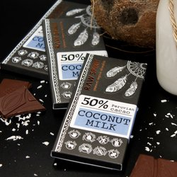 Coconut Milk Raw Chocolate Bar 50% Peruvian Cacao 30g