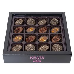 Keats Chocolatier's Superfood Chocolates Selection inc. Chia Seed & Goji Berry Chocolates - 16 Pieces 170g