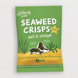 12 x Salt & Vinegar Seaweed Crisps with Crunchy Tapioca by Abacus Foods 18g
