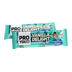 12 x ProYouth 'Vanilla Delight' Protein Bars 60g - Natural Energy Bars