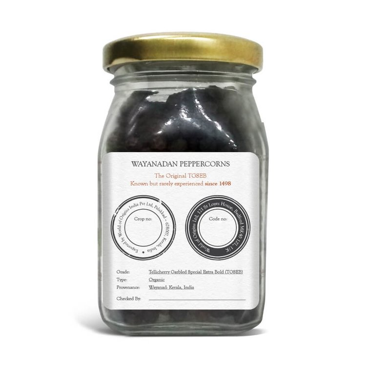 Organic Wayanadan TGSEB Peppercorns 90g