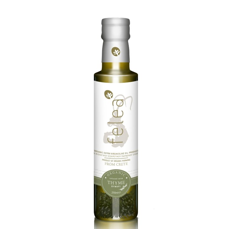 Organic Extra Virgin Olive Oil with Thyme 250ml