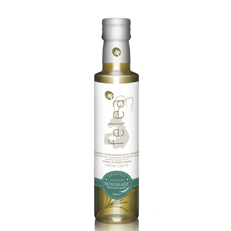 Organic Extra Virgin Olive Oil with Rosemary 250ml