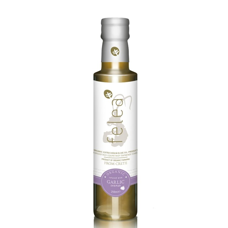 Organic Extra Virgin Olive Oil with Garlic 250ml