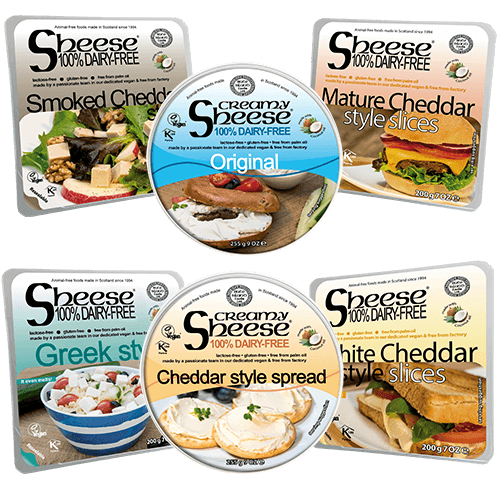 Dairy-Free Vegan Mixed Cheese ('Sheese') Variety 6 Pack by Bute Island