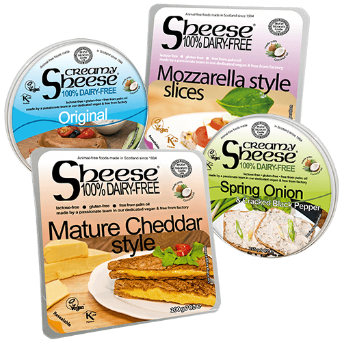 Dairy-Free Vegan Cheese ('Sheese') 6 Pack by Bute Island (Cheddar, Mozzarella, Creamy)
