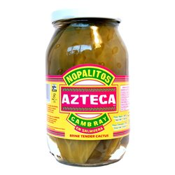 Nopalitos Cambray en Salmuera - Whole Cactus Leaves in Brine by Azteca 460g