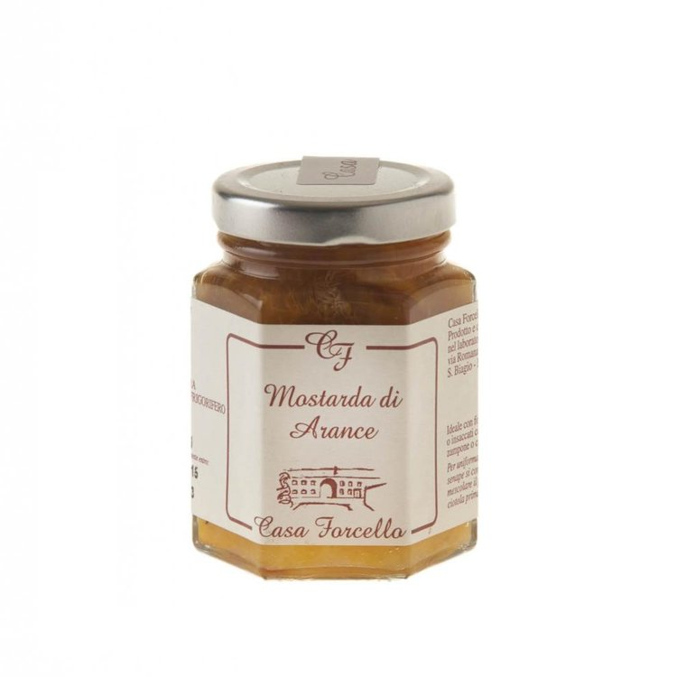 Italian Orange Fruit Mustard (Condiment for Cheese & Meats) 120g