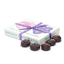 Large Luxury Rose & Violet Fondant Cream Chocolate Gift Box by Rococo Chocolates 240g