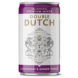 24 x Cranberry & Ginger Tonic Water by Double Dutch 150ml Cans