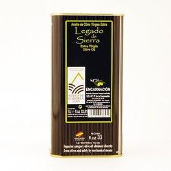 Picual Extra Virgin Olive Oil Tin by Legado de Sierra 1ltr - Sierra de Cazorla D.O.P Spanish Olive Oil