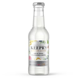 12 x Ultra Low Alcohol Gin & Tonic Flavoured Bottled Cocktails by Keepr's 250ml 0.5% ABV