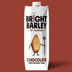 6 x Dairy-Free Chocolate Barley Drink 330ml - Vegan Milkshake Alternative by Bright Barley
