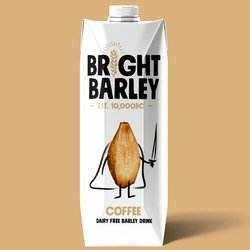 6 x Dairy-Free Coffee Flavoured Barley Drink 330ml - Vegan Milkshake Alternative by Bright Barley