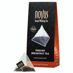 English Breakfast Tea Bags by Novus Tea - 15 Tea Pyramids