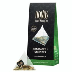 Dragonwell Green Tea by Novus Tea - 15 Tea Pyramids