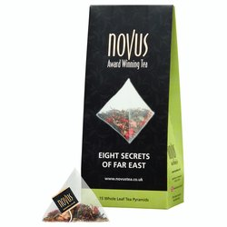 'Eight Secrets of Far East' Green Tea by Novus Tea - 15 Tea Pyramids - Green Tea Blend