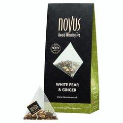 White Ginger & Pear Tea by Novus Tea - 15 Tea Pyramids