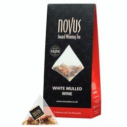 White Mulled Wine Tea Bags by Novus Tea - 15 Tea Pyramids
