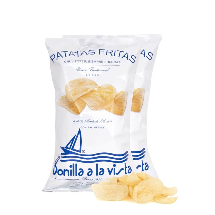 2 x 150g Packs of Olive Oil & Sea Salt Crisps 'Patatas Fritas'