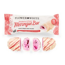 12 x Strawberries & Cream Flower & White Meringue Bars 23g
