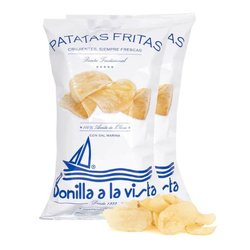 2 Packs of Olive Oil & Sea Salt Crisps 'Patatas Fritas' 300g