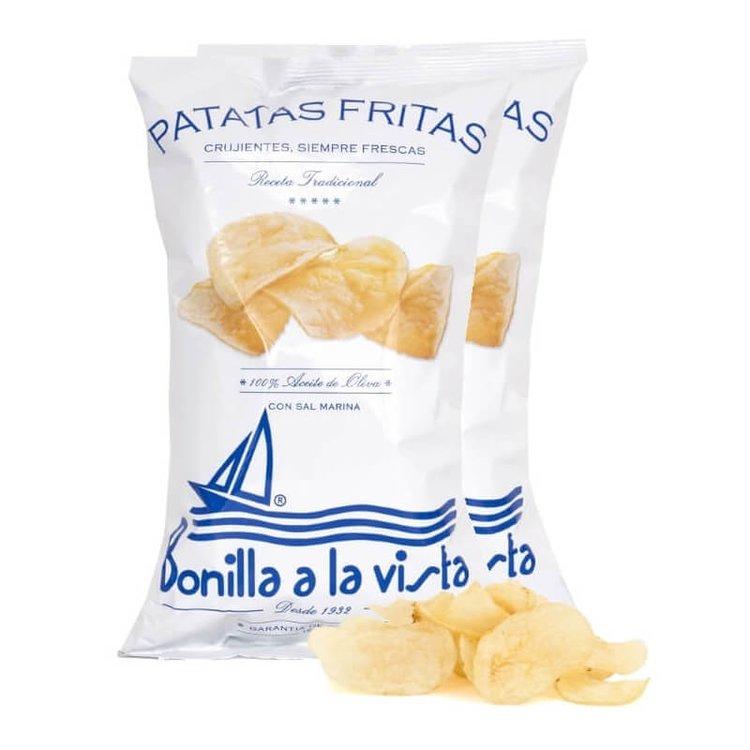 2 Packs of Olive Oil & Sea Salt Crisps 'Patatas Fritas' 300g