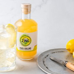 Yuzu Gin Collins 500ml 19% ABV - Bottled Cocktail by World of Zing