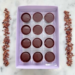 Vegan Salted Caramel Chocolate Truffle Gift Box by Luisa's Vegan Chocolates (12 Pieces)
