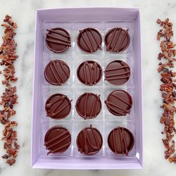 Vegan Chocolate Caramel Truffle Gift Box by Luisa's Vegan Chocolates (12 Pieces)