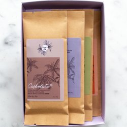 Vegan Cashew Chocolate Bar Set by Luisa's Vegan Chocolates (4 x 25g)
