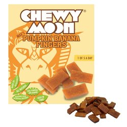 4 x Pumpkin & Banana Fingers by ChewyMoon 80g - Banana Fruit Strips