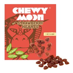 4 x Strawberry Hearts by ChewyMoon 80g - Dried Fruit Snack