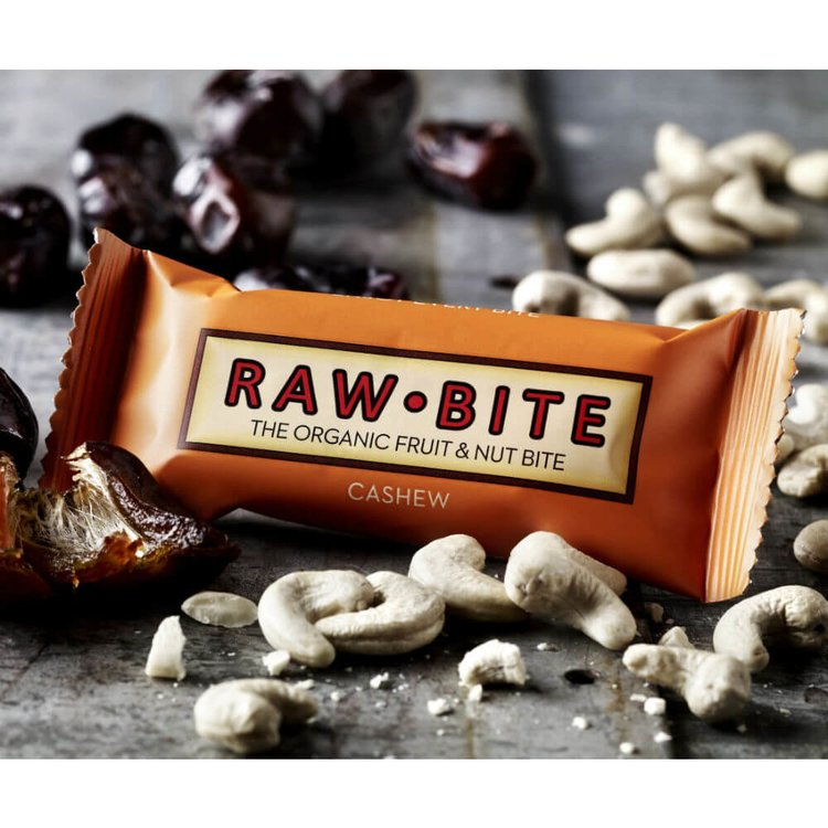 Organic Raw Cashew Bars 12 x 50g