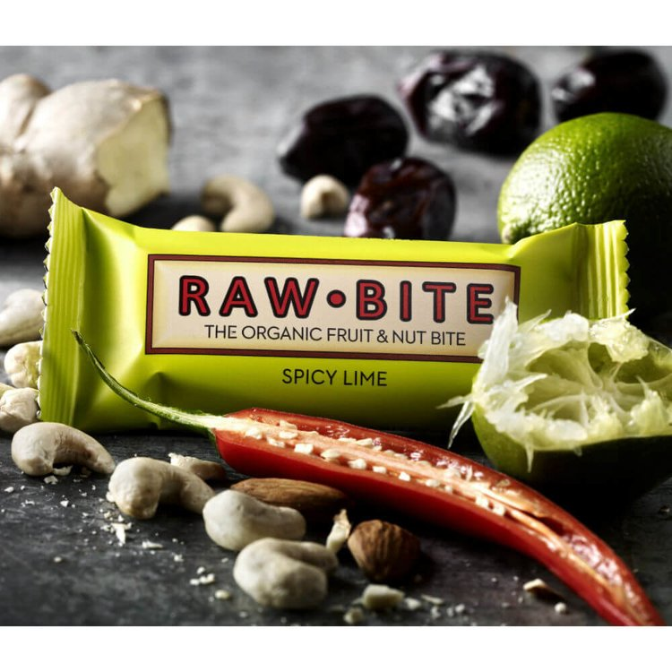 Organic Spicy Lime Bars 12 x 50g