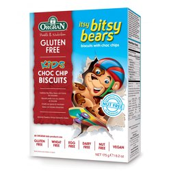 Itsy Bitsy Bears Biscuits by Orgran 175g - Gluten-free Chocolate Chip Biscuits